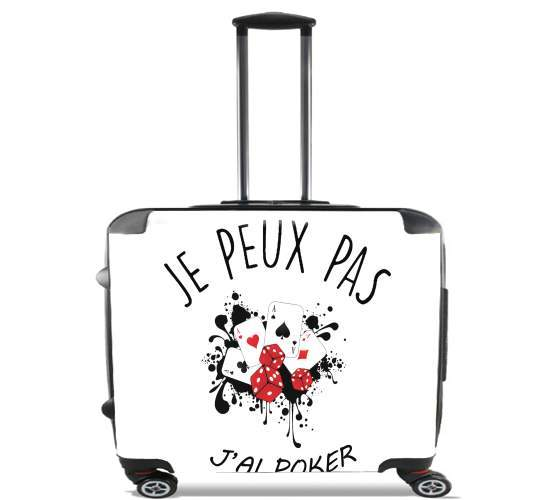"Je peux pas jai poker for Wheeled bag cabin luggage suitcase trolley 17"" laptop"