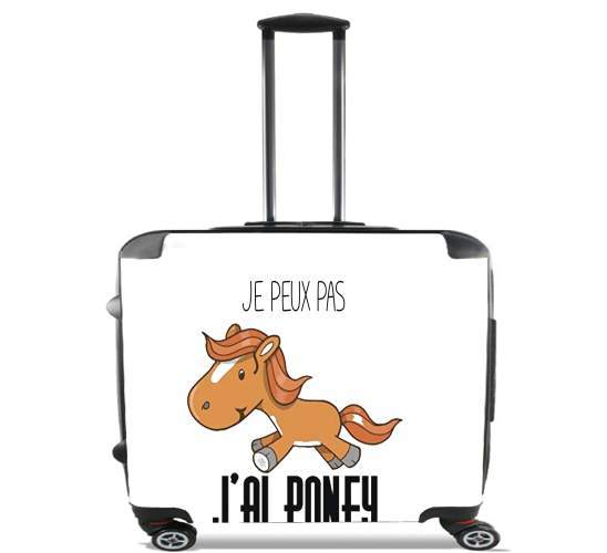 "Je peux pas jai poney for Wheeled bag cabin luggage suitcase trolley 17"" laptop"