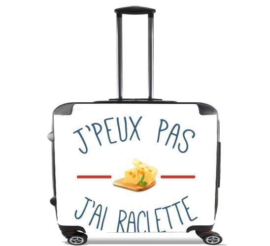 "Je peux pas jai raclette for Wheeled bag cabin luggage suitcase trolley 17"" laptop"