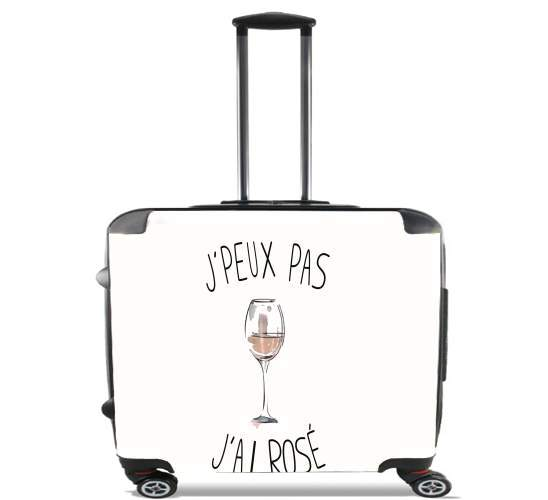 "Je peux pas jai rose Vin for Wheeled bag cabin luggage suitcase trolley 17"" laptop"