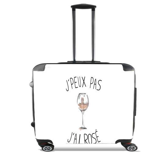 "Je peux pas jai rose for Wheeled bag cabin luggage suitcase trolley 17"" laptop"
