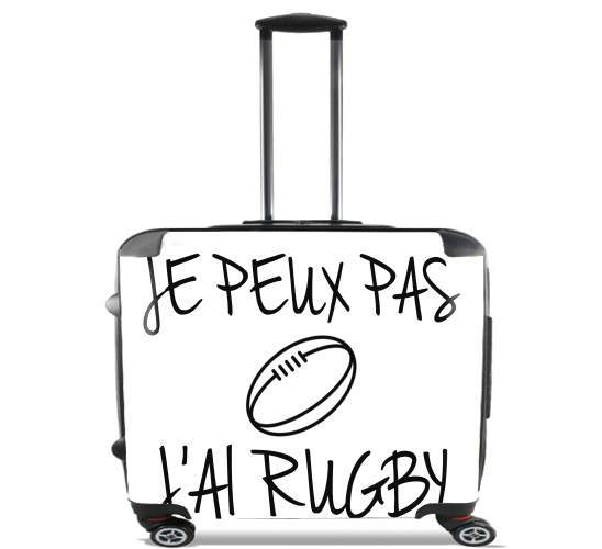 "Je peux pas jai rugby for Wheeled bag cabin luggage suitcase trolley 17"" laptop"