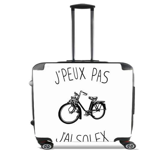 "Je peux pas jai solex for Wheeled bag cabin luggage suitcase trolley 17"" laptop"
