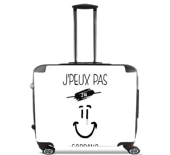 "Je peux pas jai soprano Clown for Wheeled bag cabin luggage suitcase trolley 17"" laptop"