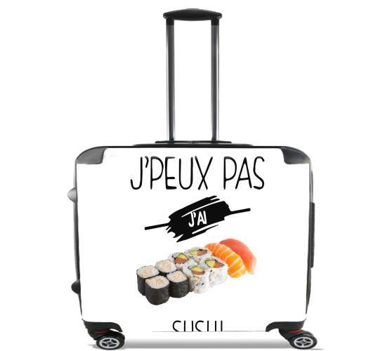 "Je peux pas jai sushi for Wheeled bag cabin luggage suitcase trolley 17"" laptop"