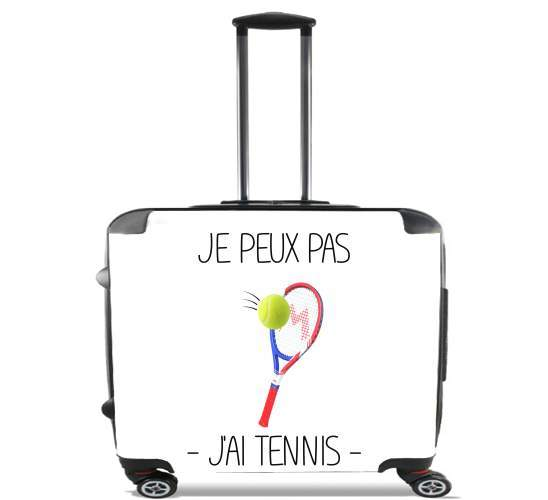 "Je peux pas jai tennis for Wheeled bag cabin luggage suitcase trolley 17"" laptop"