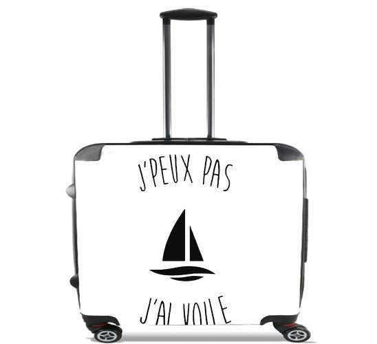 "Je peux pas jai voile for Wheeled bag cabin luggage suitcase trolley 17"" laptop"