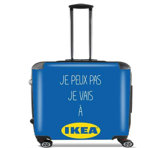 "Je peux pas je vais a ikea for Wheeled bag cabin luggage suitcase trolley 17"" laptop"