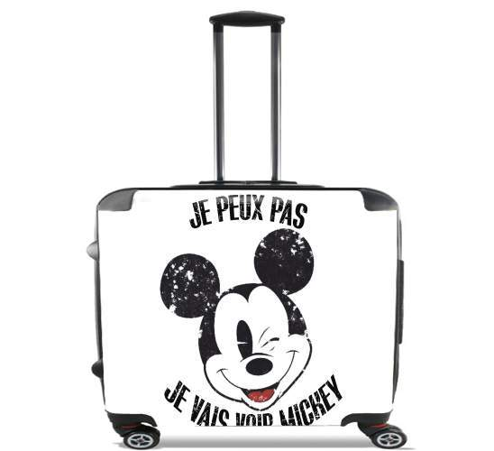 "Je peux pas je vais voir mickey for Wheeled bag cabin luggage suitcase trolley 17"" laptop"