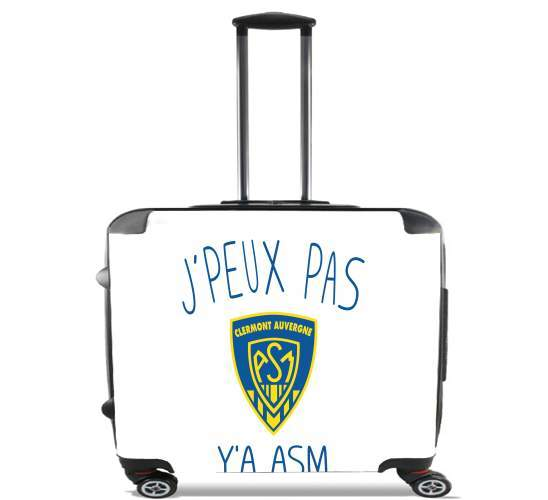"Je peux pas ya ASM - Rugby Clermont Auvergne for Wheeled bag cabin luggage suitcase trolley 17"" laptop"