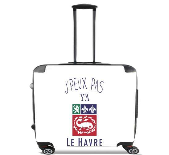 "Je peux pas ya le Havre for Wheeled bag cabin luggage suitcase trolley 17"" laptop"