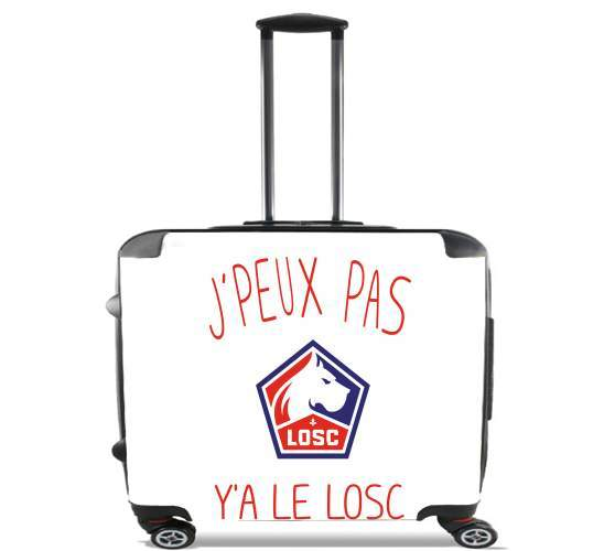 "je peux pas ya le losc for Wheeled bag cabin luggage suitcase trolley 17"" laptop"