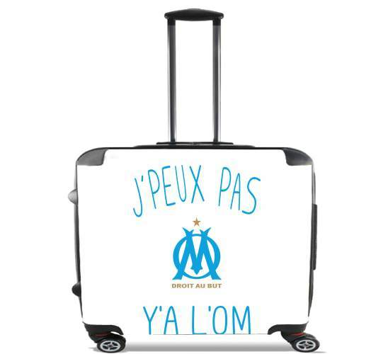 "Je peux pas ya lom for Wheeled bag cabin luggage suitcase trolley 17"" laptop"
