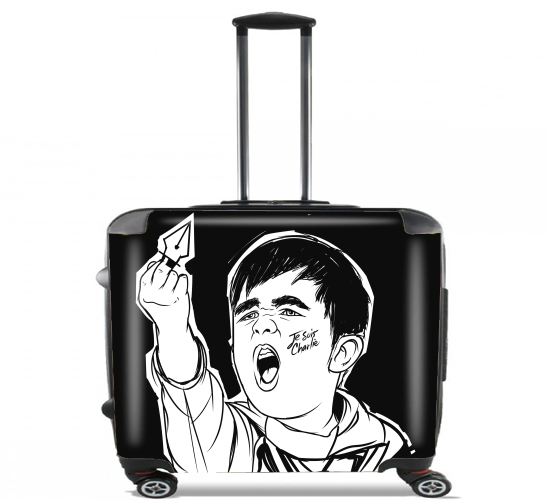 "Je Suis Charlie for Wheeled bag cabin luggage suitcase trolley 17"" laptop"
