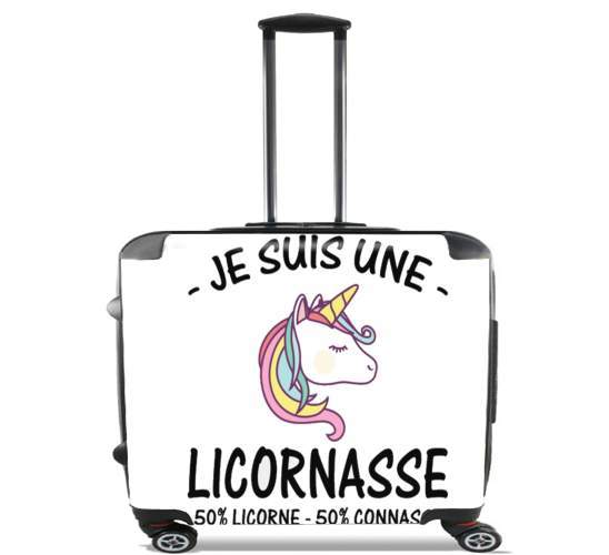 "Je suis une licornasse for Wheeled bag cabin luggage suitcase trolley 17"" laptop"
