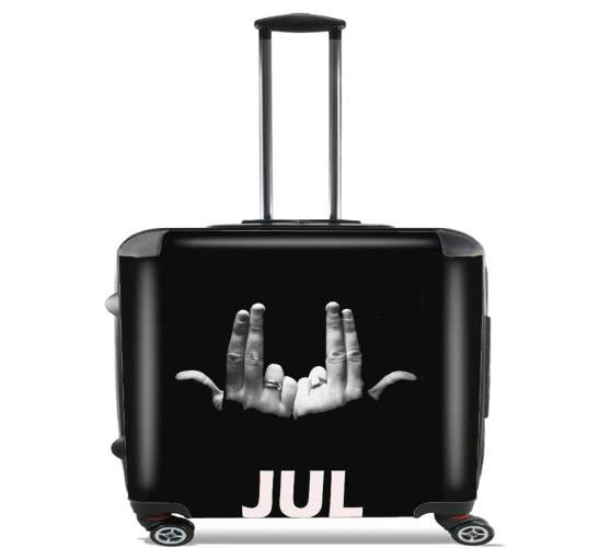 "Jul Rap for Wheeled bag cabin luggage suitcase trolley 17"" laptop"