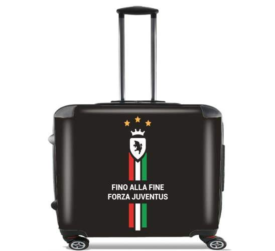 "JUVENTUS TURIN Home 2018 for Wheeled bag cabin luggage suitcase trolley 17"" laptop"