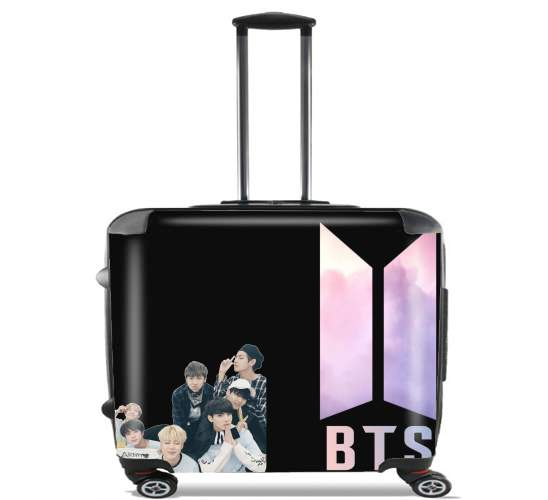 "K-pop BTS Bangtan Boys for Wheeled bag cabin luggage suitcase trolley 17"" laptop"