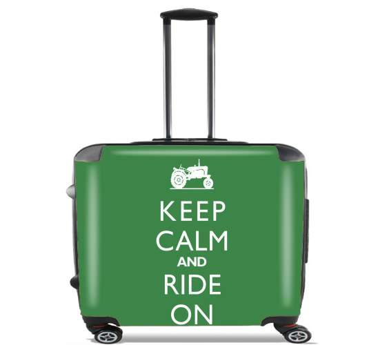 "Keep Calm And ride on Tractor for Wheeled bag cabin luggage suitcase trolley 17"" laptop"