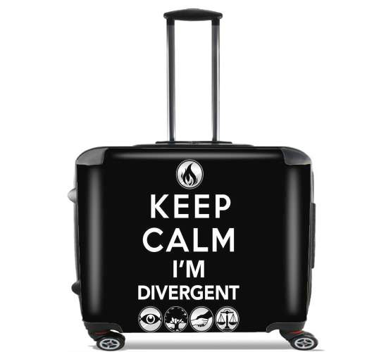 "Keep Calm Divergent Faction for Wheeled bag cabin luggage suitcase trolley 17"" laptop"