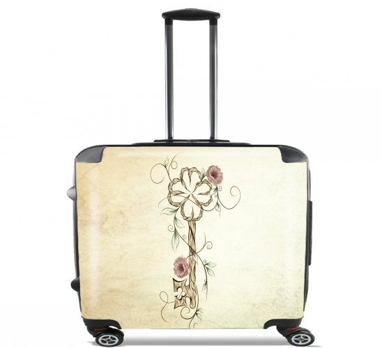 "Key Lucky  for Wheeled bag cabin luggage suitcase trolley 17"" laptop"