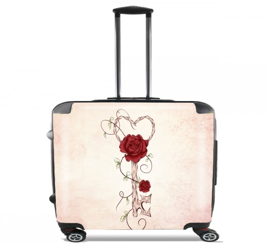 "Key Of Love for Wheeled bag cabin luggage suitcase trolley 17"" laptop"