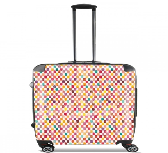 "Klee Pattern for Wheeled bag cabin luggage suitcase trolley 17"" laptop"