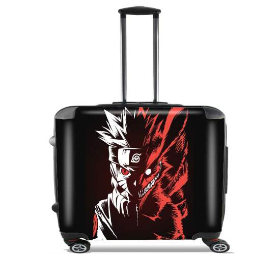 "Kyubi x Naruto Angry for Wheeled bag cabin luggage suitcase trolley 17"" laptop"