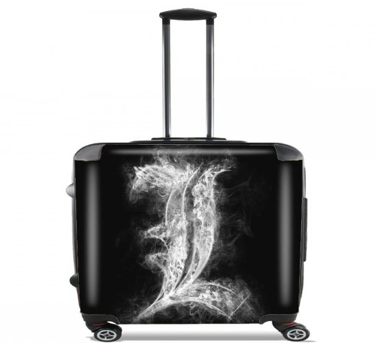 "L Smoke Death Note for Wheeled bag cabin luggage suitcase trolley 17"" laptop"