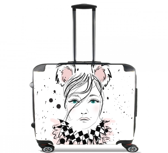 "Lady Circus for Wheeled bag cabin luggage suitcase trolley 17"" laptop"