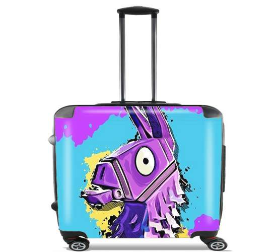 "Lama Fortnite for Wheeled bag cabin luggage suitcase trolley 17"" laptop"