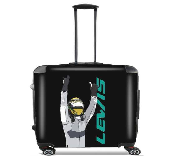 "Lewis Hamilton F1 for Wheeled bag cabin luggage suitcase trolley 17"" laptop"