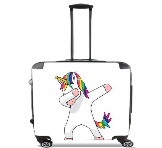 "Dance unicorn DAB for Wheeled bag cabin luggage suitcase trolley 17"" laptop"
