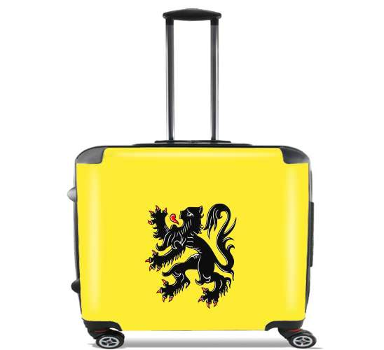 "Lion des flandres for Wheeled bag cabin luggage suitcase trolley 17"" laptop"
