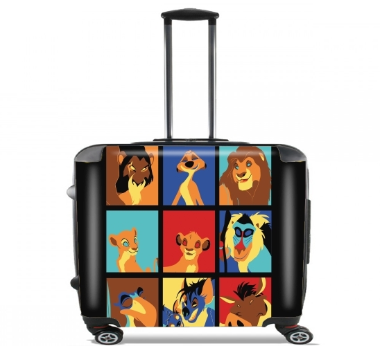"Lion pop for Wheeled bag cabin luggage suitcase trolley 17"" laptop"