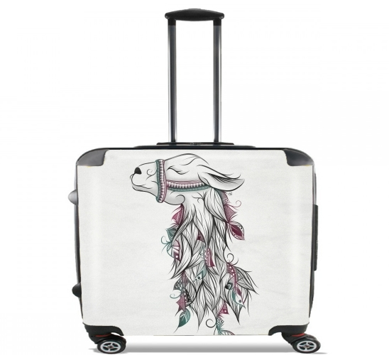 "Llama Happy for Wheeled bag cabin luggage suitcase trolley 17"" laptop"