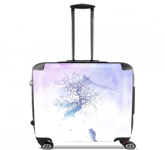 "Long way to fuji for Wheeled bag cabin luggage suitcase trolley 17"" laptop"
