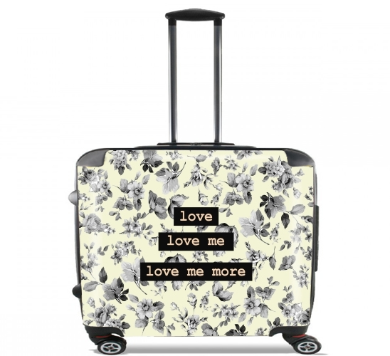 "love me more for Wheeled bag cabin luggage suitcase trolley 17"" laptop"