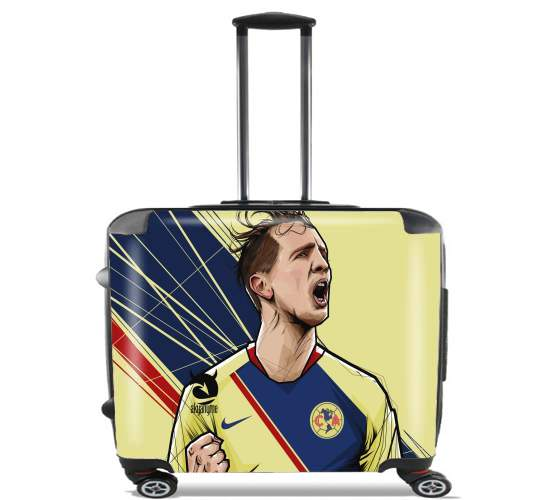 "Luuk De Jong America 2018 for Wheeled bag cabin luggage suitcase trolley 17"" laptop"