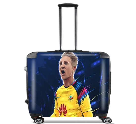 "Luuk De Jong America for Wheeled bag cabin luggage suitcase trolley 17"" laptop"