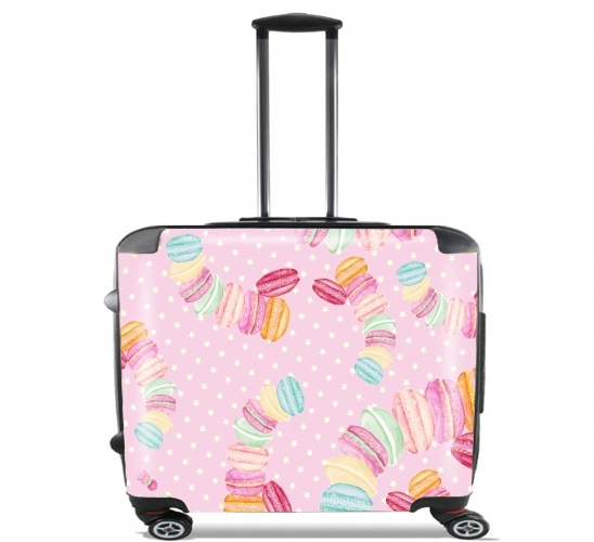 "MACARONS for Wheeled bag cabin luggage suitcase trolley 17"" laptop"