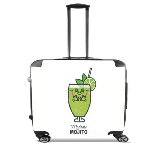 "Madame Mojito for Wheeled bag cabin luggage suitcase trolley 17"" laptop"