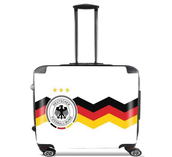 "Maillot Allemagne for Wheeled bag cabin luggage suitcase trolley 17"" laptop"