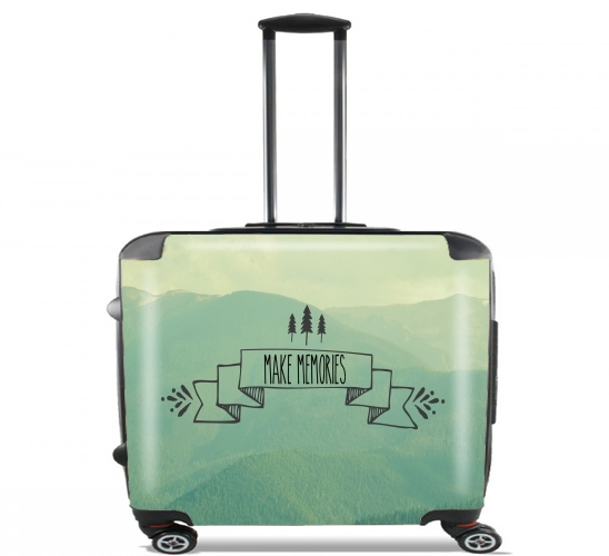 "Make Memories for Wheeled bag cabin luggage suitcase trolley 17"" laptop"