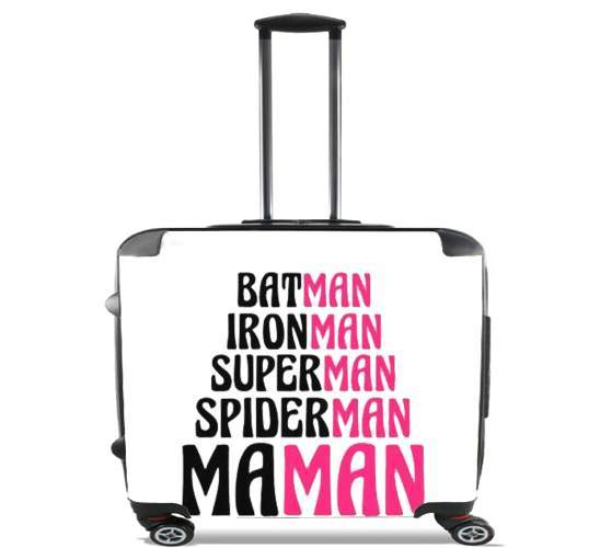"Maman Super heros for Wheeled bag cabin luggage suitcase trolley 17"" laptop"