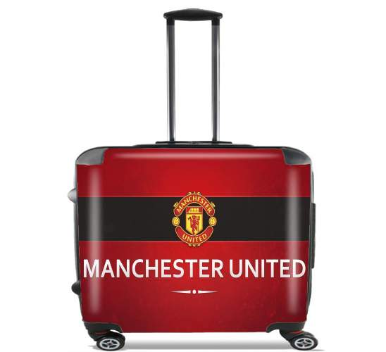 "Manchester United for Wheeled bag cabin luggage suitcase trolley 17"" laptop"