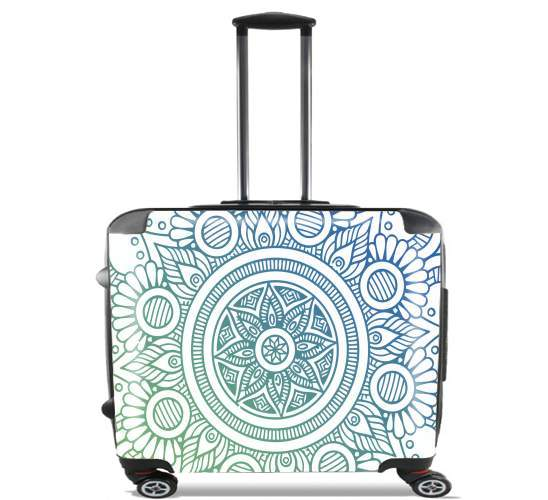 "Mandala Peaceful for Wheeled bag cabin luggage suitcase trolley 17"" laptop"