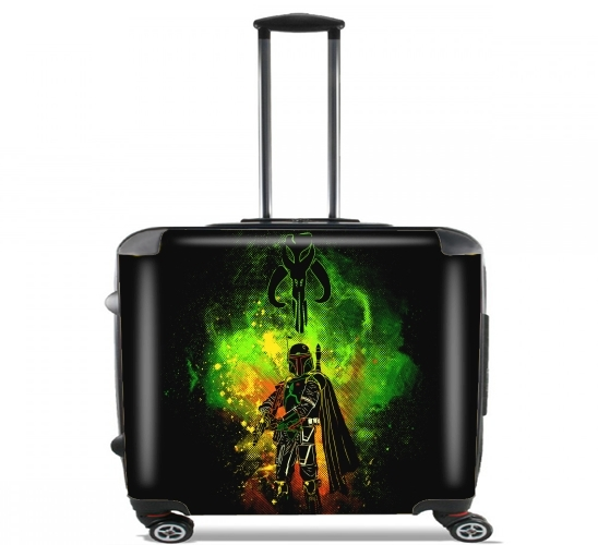 "Mandalore Art for Wheeled bag cabin luggage suitcase trolley 17"" laptop"