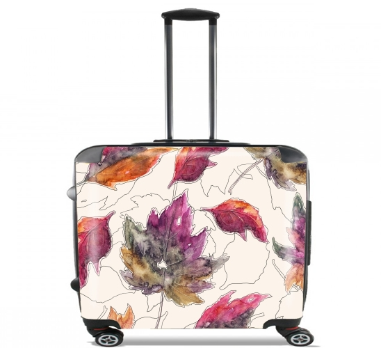 "Maple Pattern for Wheeled bag cabin luggage suitcase trolley 17"" laptop"