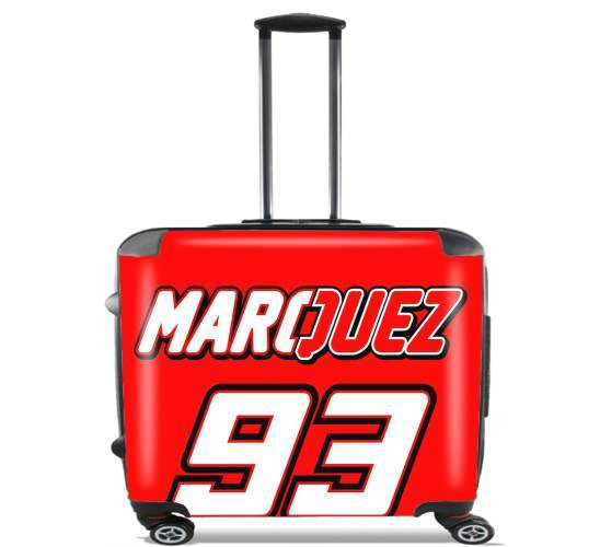 "Marc marquez 93 Fan honda for Wheeled bag cabin luggage suitcase trolley 17"" laptop"